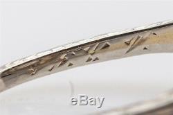 1920 Antique 5000 $ 1ct Ancienne Mine À Diamants En Or Blanc 18 Carats Bague Filigrane