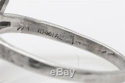 1920 Antique 8000 $ 2ct Vs I Old Euro Diamond Emerald Platinum Filigree Bague