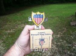 1940' Vintage Ww2 Originale Plaque D'immatriculation Drapeau Américain Topper Emblem Nos Rat Hot Rod