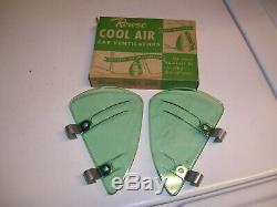 1950' Vintage Original Nos Rowse Air Frais De Fenêtre D'aile Breezies Vieille Hot Rod Rat