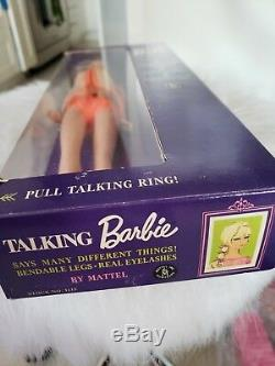 1968 Talking Doll Vintage 1960 Barbie De Poupée Barbie Rare New Old Stock