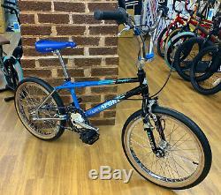 1988 Vintage Sport Haro Génération Personnalisée Old School Bmx Vélo Bleu / Noir / Chrome