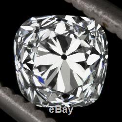 1,04 Certifié F Vs2 Ancienne Mine De Diamant Cut Antique Vintage 1 Carat Coussin Carré