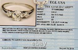 1.08 Ct 18k Or Blanc Vieil European Cut Diamond Vintage Bague De Fiançailles Rtl $8k