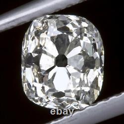 1.14ct Antique G Couleur Old Mine Cut Diamond Cushion Vinture Estat Naturel
