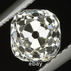 1.25ct Vieille Mine Coupée J Si2 Diamant Vintage Antique Coussin Forme Naturelle Lâche