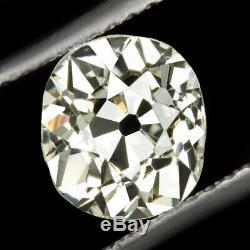 1.56ct Vs1 Vieux Mine Cut Diamond Anciennes Coussin Brillant De 1.5ct Naturel