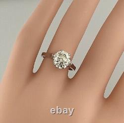 2.01 Ct Vintage Antique Old European Cut Diamond Bague De Fiançailles En Platine