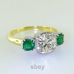 2,70 Ct Antique Vintage Ancien Engagement De Coupe De Diamant Européenne Bague Ancienne Mine Platin