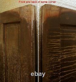 30x79 Antique Vintage Victorien Vieux En Bois Massif En Bois Porte Intérieure 5 Panneaux