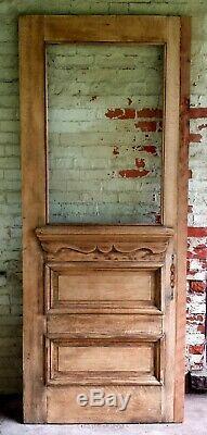 32x79 Antique Vintage Vieux En Bois Massif En Bois De Fenêtre En Verre Porte D'entrée Extérieur