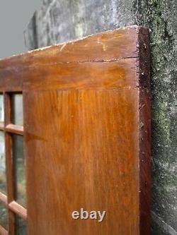 32x79x1.75 Antique Vintage Vieux Bois En Bois Porte D'entrée 9 Fenêtre Biseautés En Verre