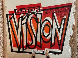 33 Ans Vision Mark Rogowski Gator Skateboard (rare Paillettes-argent Dip)