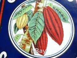 38270 Old Antique Vintage Émail Inscrivez-vous D'annonce Cadbury Cocoa Tin Can Box
