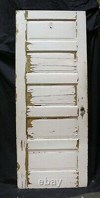 3 Antique Vintage Disponibles 30x77 Vieux Bois Massif Intérieur En Bois Porte 5 Panneaux