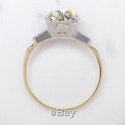 3 Carat 9 MM Vieux Mine Cut Diamond Bague De Fiançailles Anciennes Européenne 3tc