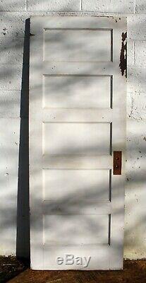 5 28x77 Antique Vintage Succès Vieux Bois Massif Intérieur En Bois Porte 5 Écrans Plats