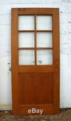 6 Antique Vintage 36x83x1.75 Succès Vieux Bois Fenêtre En Bois Porte En Verre Texturé
