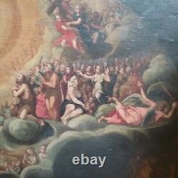 Ancien Maître Peinture À L'huile Résurrection Jésus Federico Barocci Bible 17e C