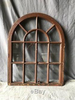 Antique 14 Lite Arquéesles Dôme Fenêtre Supérieure Sash Shabby Chic Old Vtg 33x26 723-17e