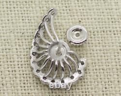 Antique 14k White Gold 0.70ct Old Mine Cut Diamond Screw Back Boucles D'oreilles