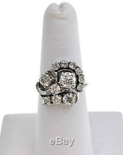 Antique 1,88 Carats Old Cut Européenne Diamant Bague 18k Cluster