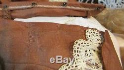 Antique 23 C1875 Bouche Fermée Marqué Fg Fashion Poupee Withlovely Old Outfit Peau