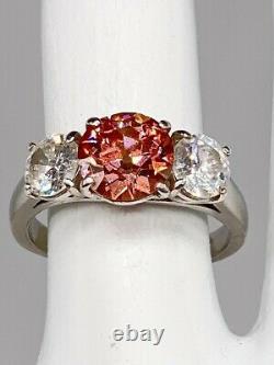 Antique 25 000 $ 3.77ct Old Euro Vvs Véritable Diamant Rose De Platine Bague De Mariage