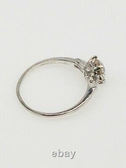 Antique Années 1920 $7000 1.50ct Vs1 L Old Old Cushion Cut Diamond Platinum Ring