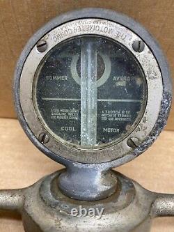 Antique Boyce Moto-meter Temperature Gauge & Dog Bone Radiator Cap Hood Ornament