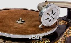 Antique Musique Ancienne Place Sound Box Vintage Gramophone Ansbury Phonographe Hb 023