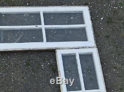 Antique Paire De Porte D'entrée 8 Lite Côté Lumière De Windows 10 Lite Transom Old Vtg 701-16