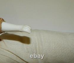 Antique Parian Head 20 Dresde Gentleman Doll Molded Blonde Hair Old Body