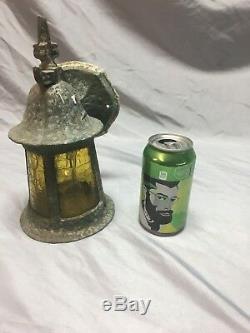 Antique Sconce Luminaire Ambre Vitrail Vtg Old Cottage 103-18j