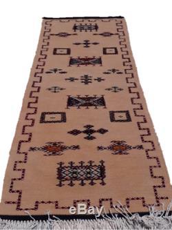 Antique Tapis Marocain. Tapis Vieux. Antique Handmad Berbere Millésime Tapis De Laine
