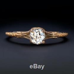 Antique Vieux Cut Mine De Diamant Bague De Fiançailles I Si1.43ct Rose D'or Vintage Style