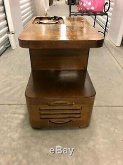 Antique Vintage Old 1938 Bois Philco Chairside Tube Am Radio Modèle 38-7cs