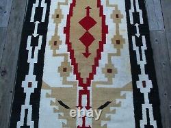 Antique Vintage Old Large Native American Indian Rug Blanket Navajo Art 88 Pouces