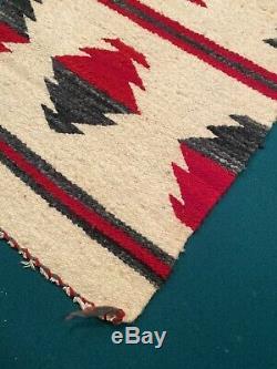 Antique Vintage Old Navajo Saddle Couverture Tapis Native American (b)