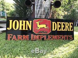 Antique Vintage Old Style Agricole John Deere 6 Foot Sign
