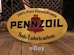 Antique Vintage Old Style Pennzoil 40 Signe