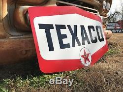 Antique Vintage Old Style Texaco Huile Moteur Signe