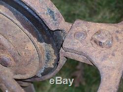Antique Vintage Vieux Outils Affûteur Blacksmith Grinder Pédale Manivelle