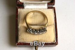 Antiques & Or 18ct Plat 0.55ct Old Cut Five Diamond Pierre Demi-anneau Hoop