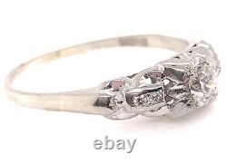 Bague De Fiançailles Vintage Old European Cut Diamond. 25ct 18k Art Déco Antique