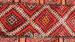 Berbère Vintage Marocaine Tapis -old Style Kilim-kilim Tapis Plat Woven- 7'10 '' / 5'8'