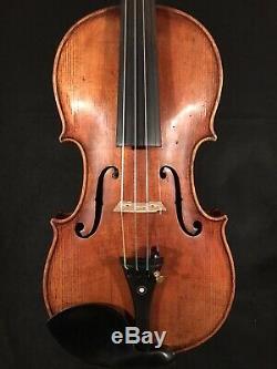 C. 1920 John Juzek 4/4 Pleine Violon Vintage Antique Fiddle