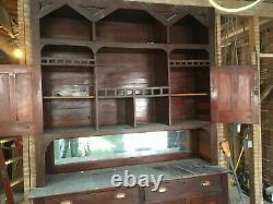Cerise Antique Construite Dans Le Garde-manger De Miroir D'armoire De Coffret Vieux Lodge Vtg 44-20e