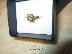 Diamant Antique Vieux Anneau De Coupe Mineur