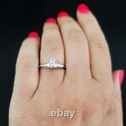 Gia G/ Vs2 Old Mine Cut Diamond Platinum Ring Engagement Vintage Estate Cadeau